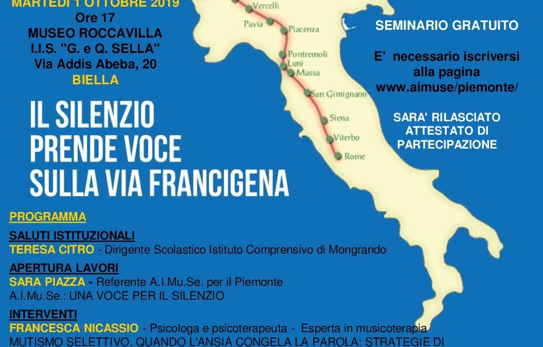 BIELLA, 1 ottobre 2019: CORREVOCE sulla Via Francigena